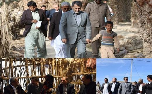 بازدید معاون وزیر کشور از روستاهای محروم شهرستان ایرانشهر