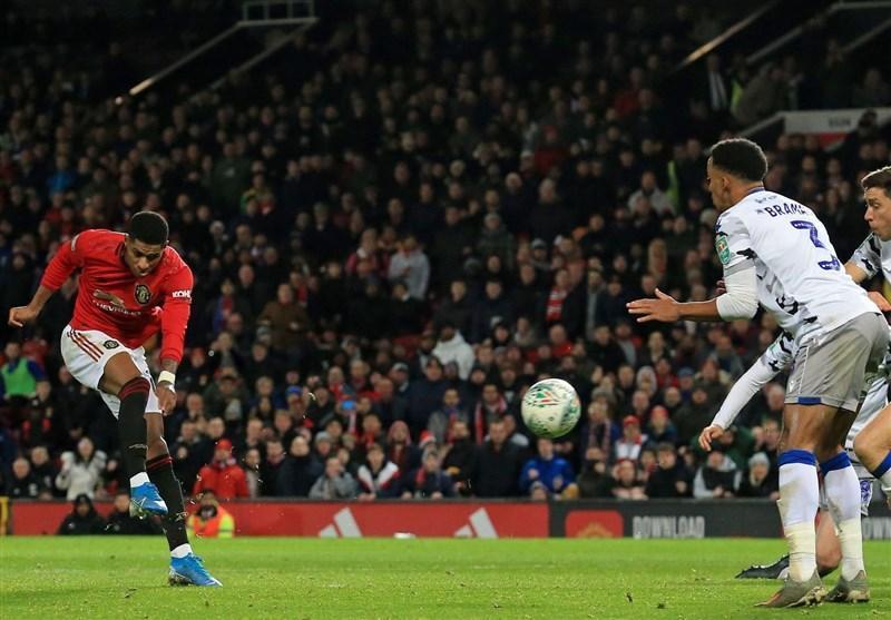 جام اتحادیه انگلیس، منچستریونایتد با درخشش یک نیمه ای به نیمه نهایی رسید، لسترسیتی به سختی صعود کرد