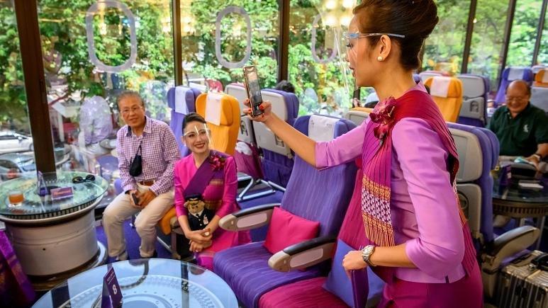 تجربه پرواز در کافه-هواپیماهای تایلند
