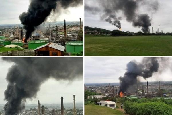 انفجار مهیب در پالایشگاه نفت آفریقای جنوبی