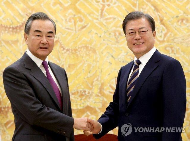 ملاقات رئیس جمهوری کره جنوبی با وزیر خارجه چین