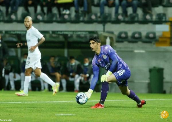 علیرضا بیرانوند بالاخره در پرتغال بازی کرد